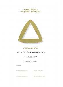 Mitglied im Netzwerk der Master-Zahnärzte-Deutschland