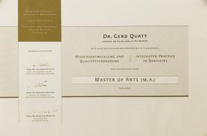 Master of Arts Master of Dentistry