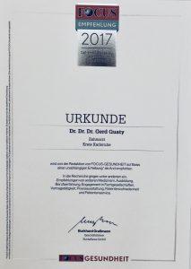 Focus Urkunde 2017