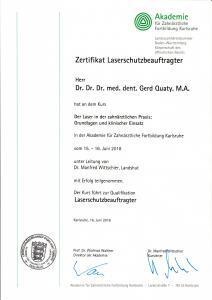 FOCUS Urkunde 2018 Implantologie